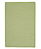 RugStudio presents Colonial Mills Outdoor Houndstooth Tweed Ot69 Lime Braided Area Rug